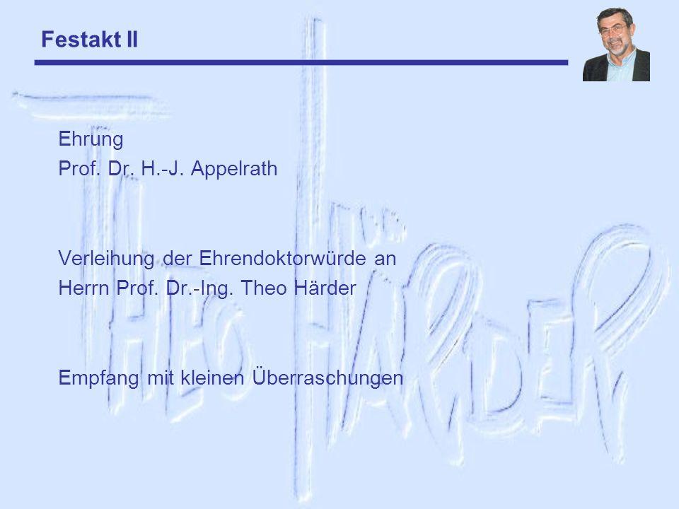 Festakt II Ehrung Prof. Dr. H.-J. Appelrath