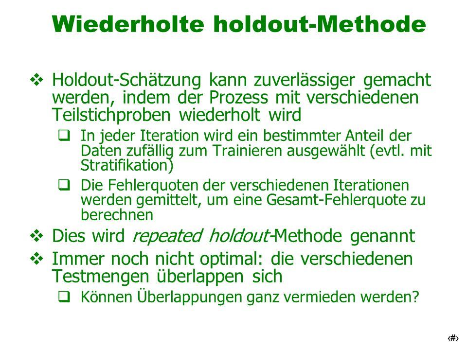 Wiederholte holdout-Methode