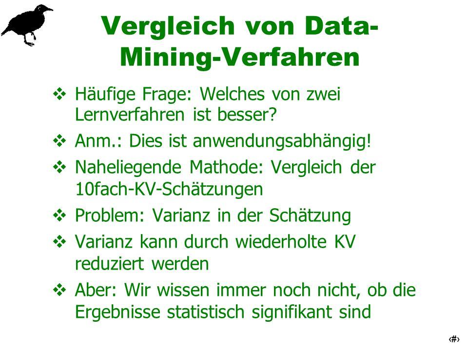 Vergleich von Data-Mining-Verfahren