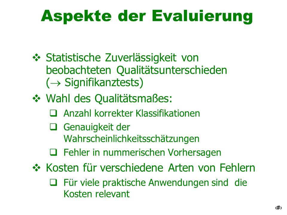 Aspekte der Evaluierung