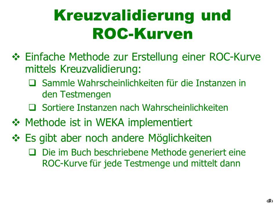 Kreuzvalidierung und ROC-Kurven
