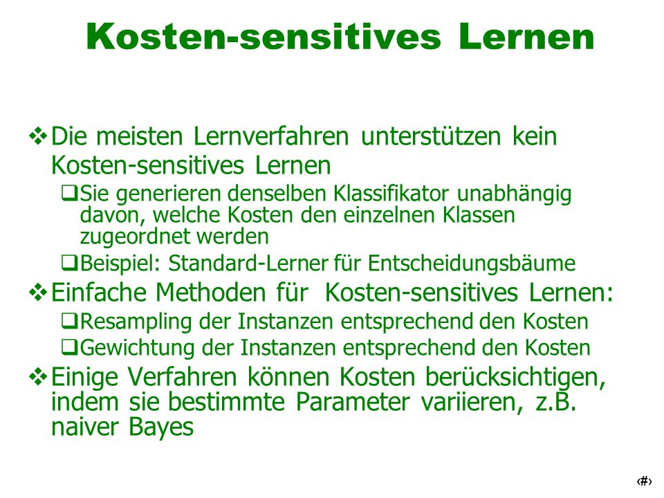 Kosten-sensitives Lernen