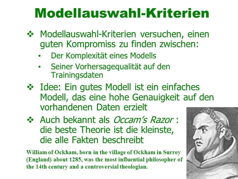 Modellauswahl-Kriterien