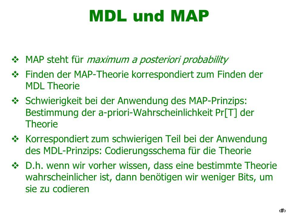 MDL und MAP MAP steht für maximum a posteriori probability