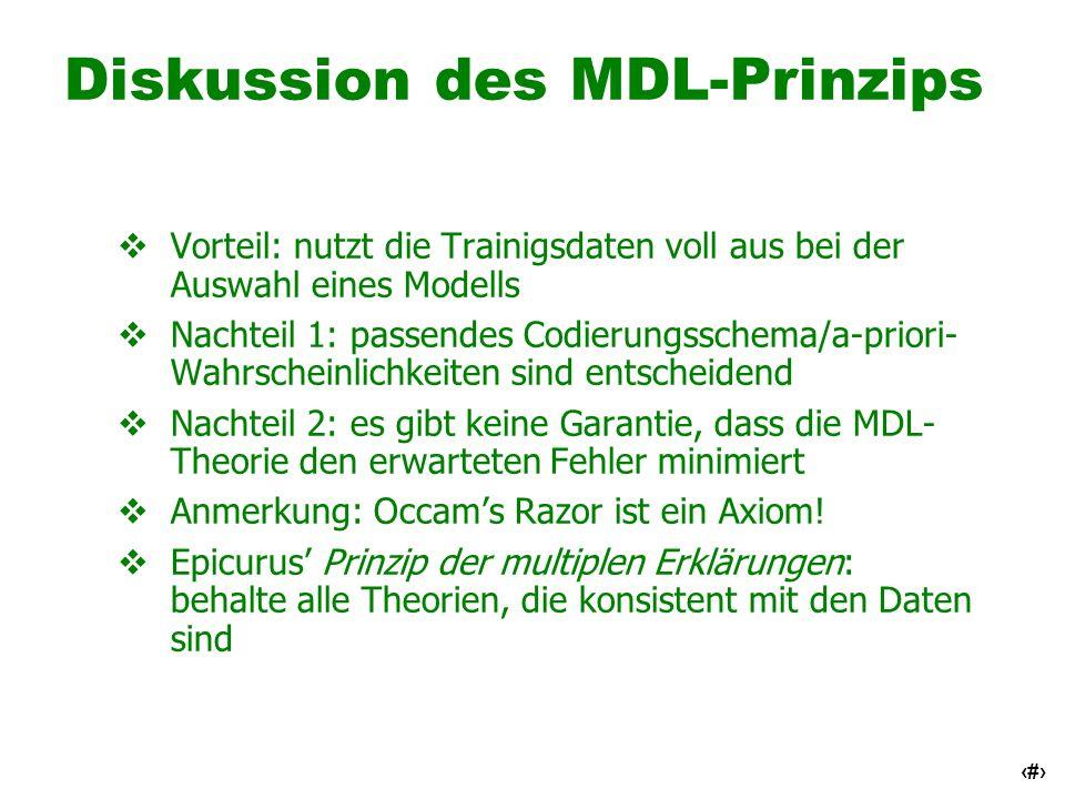 Diskussion des MDL-Prinzips