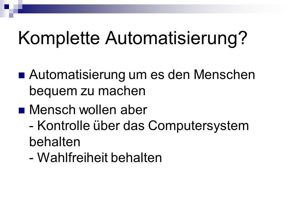 Komplette Automatisierung