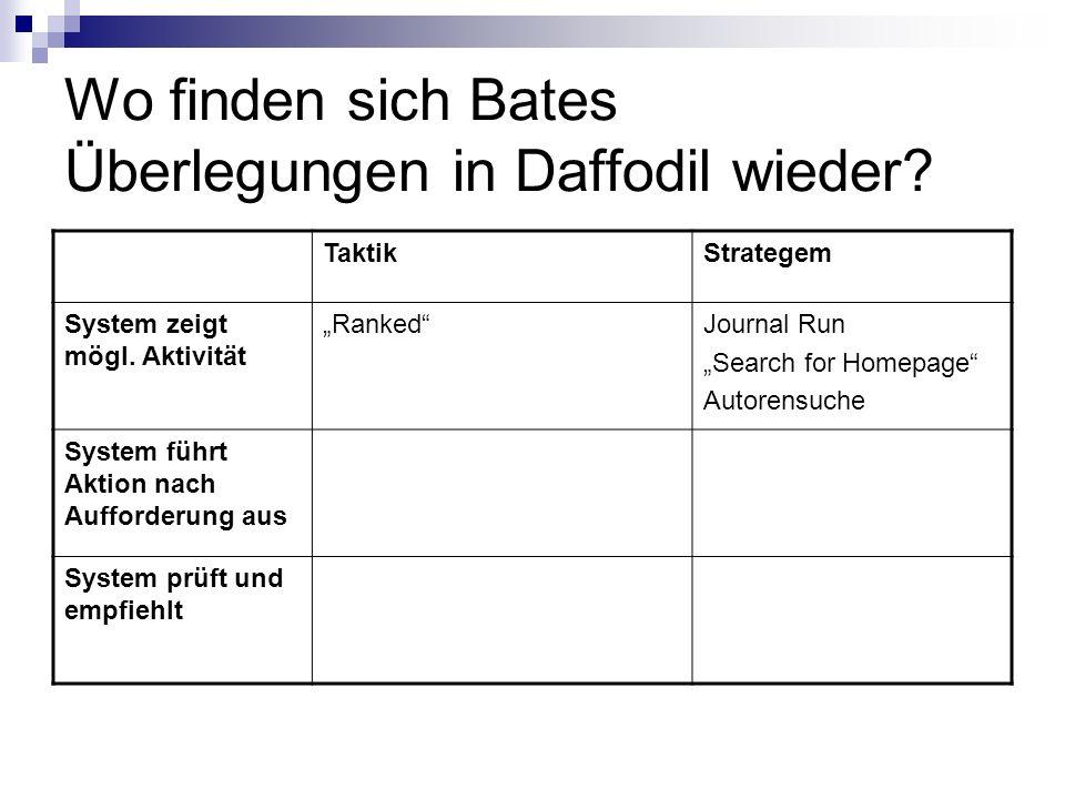 Wo finden sich Bates Überlegungen in Daffodil wieder