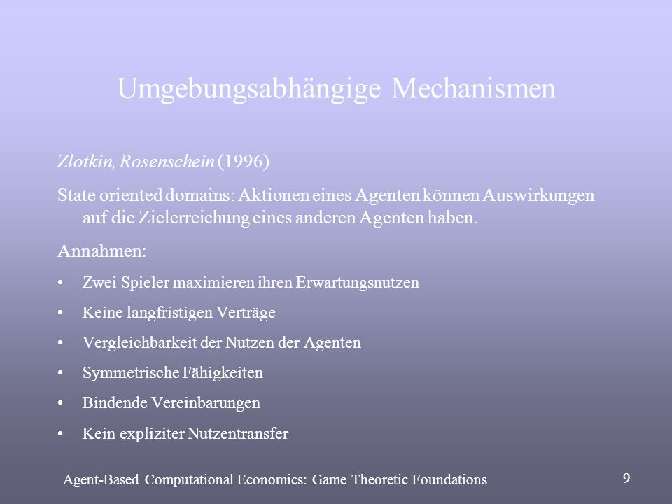 Umgebungsabhängige Mechanismen