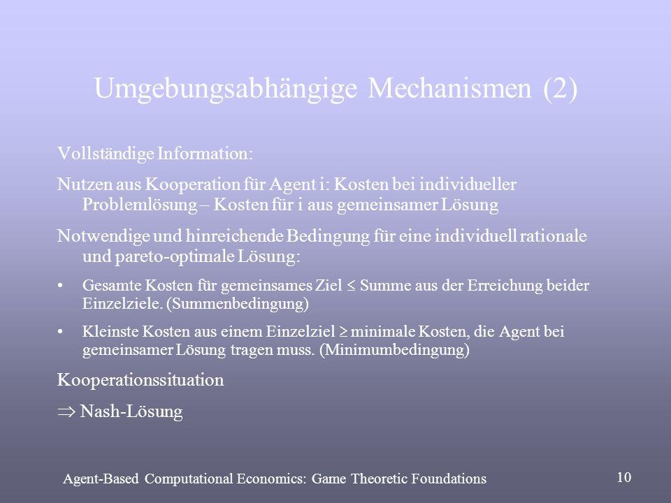 Umgebungsabhängige Mechanismen (2)