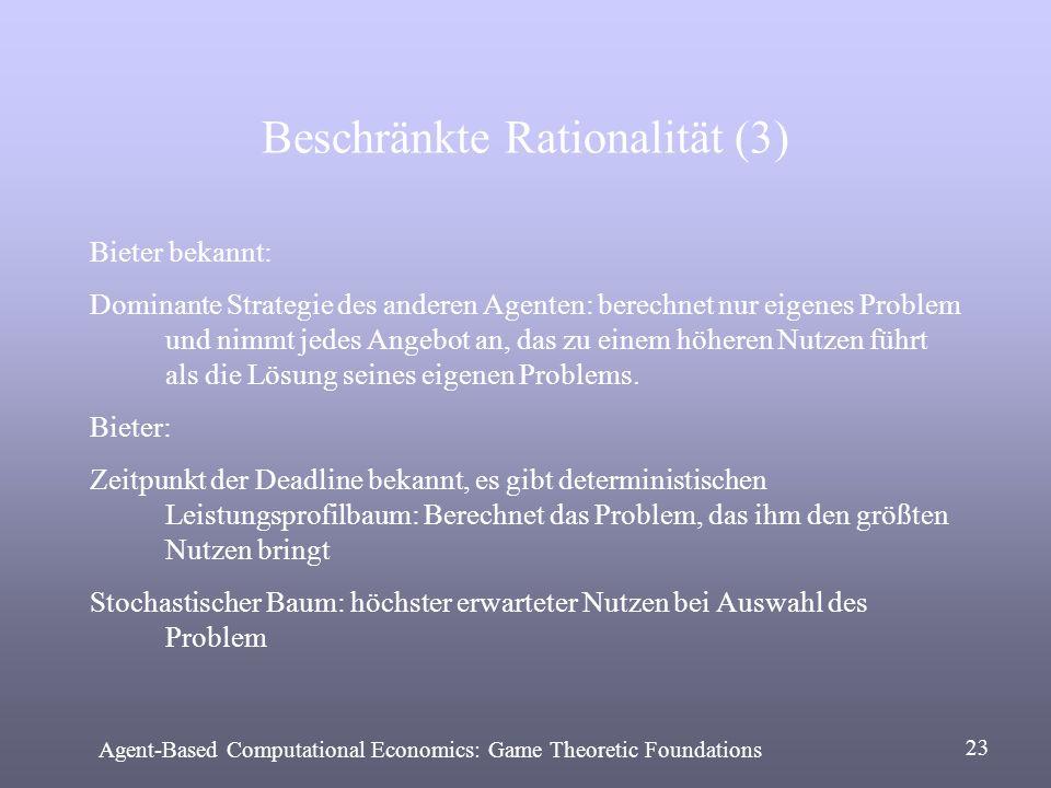 Beschränkte Rationalität (3)