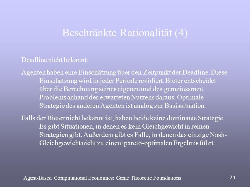 Beschränkte Rationalität (4)