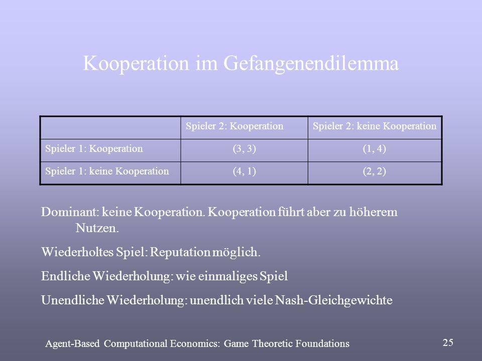 Kooperation im Gefangenendilemma