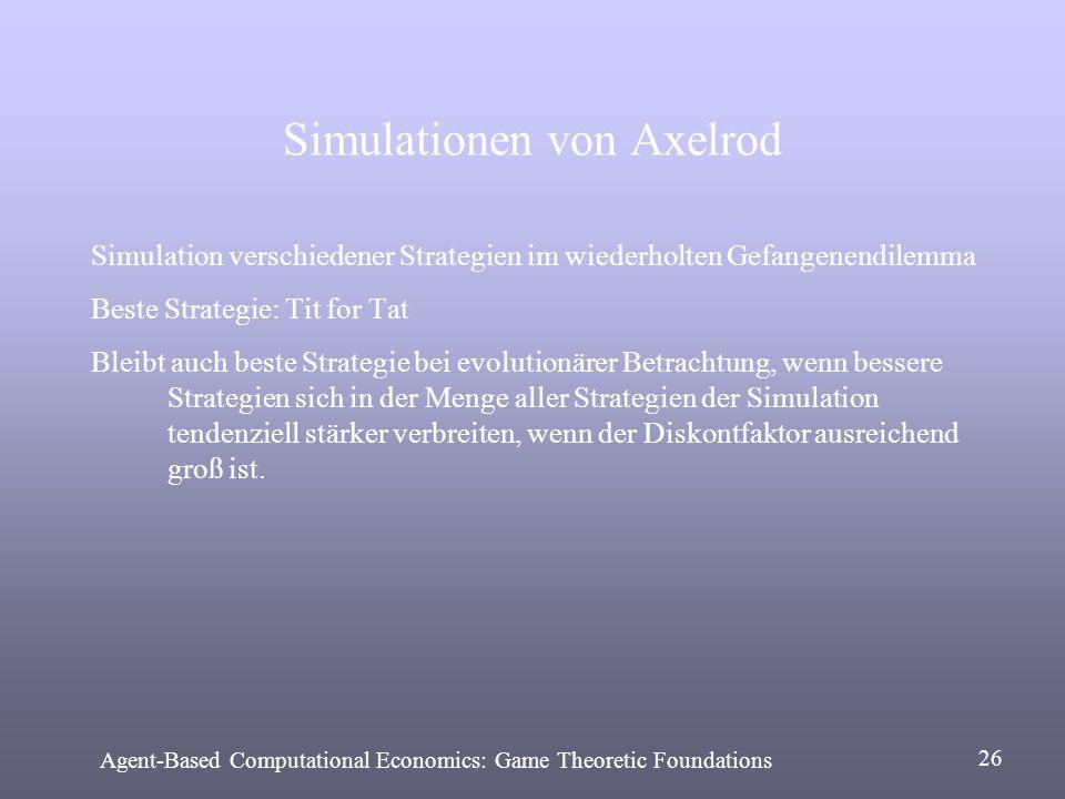 Simulationen von Axelrod