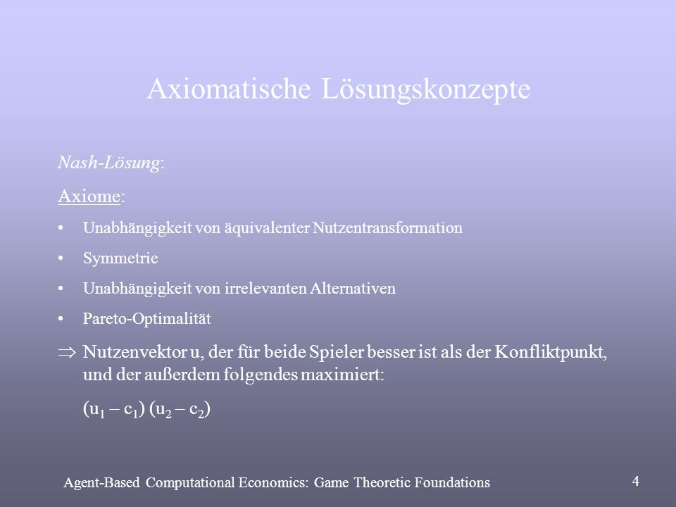 Axiomatische Lösungskonzepte