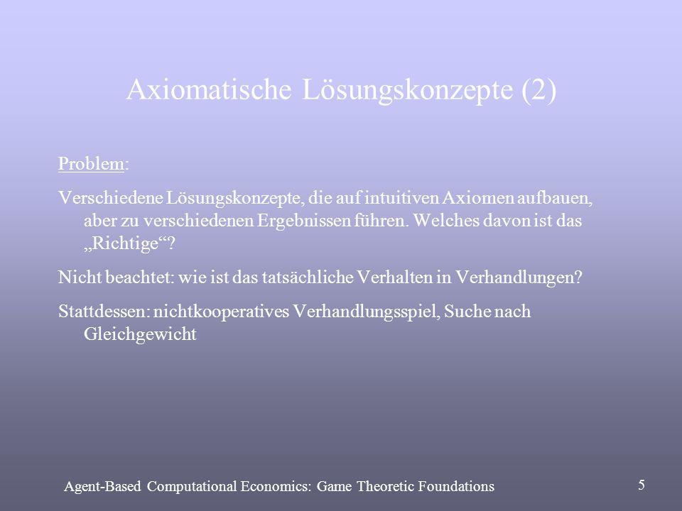 Axiomatische Lösungskonzepte (2)