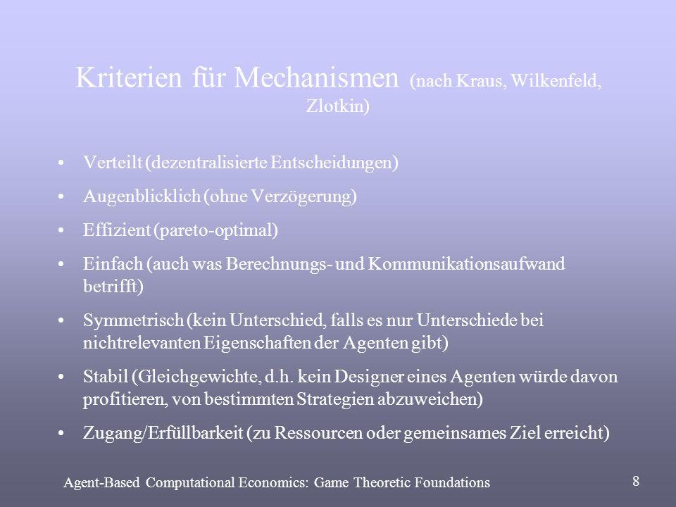 Kriterien für Mechanismen (nach Kraus, Wilkenfeld, Zlotkin)