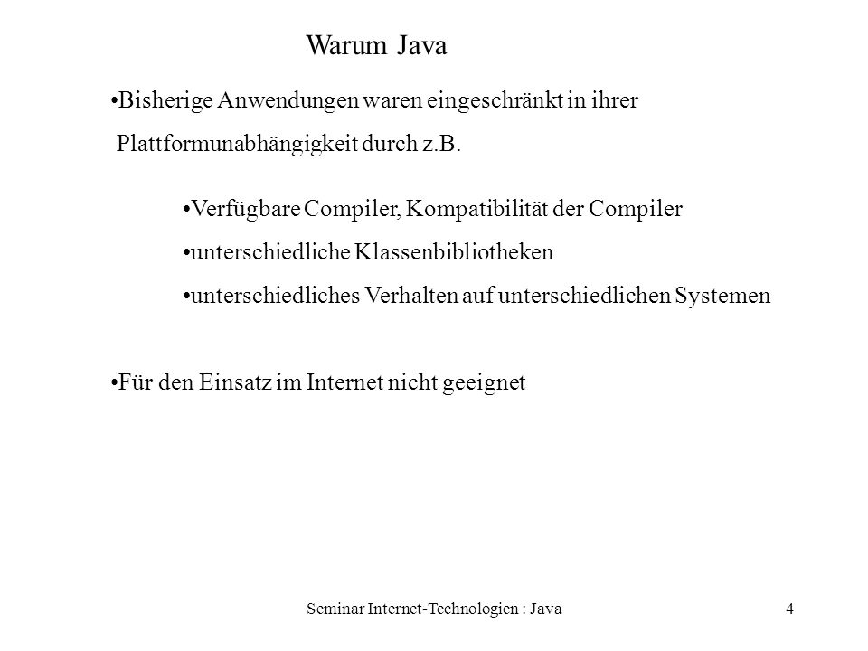 Seminar Internet-Technologien : Java