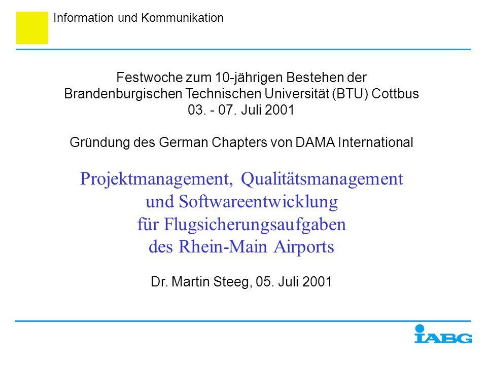 Projektmanagement, Qualitätsmanagement und Softwareentwicklung