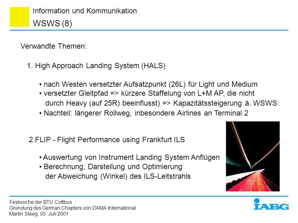 WSWS (8) Verwandte Themen: 1. High Approach Landing System (HALS)