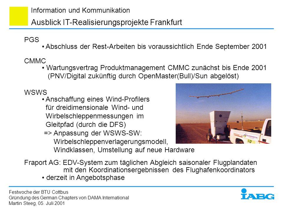 Ausblick IT-Realisierungsprojekte Frankfurt