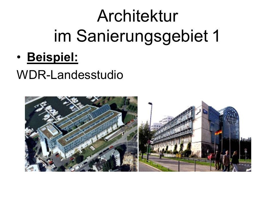 Architektur im Sanierungsgebiet 1