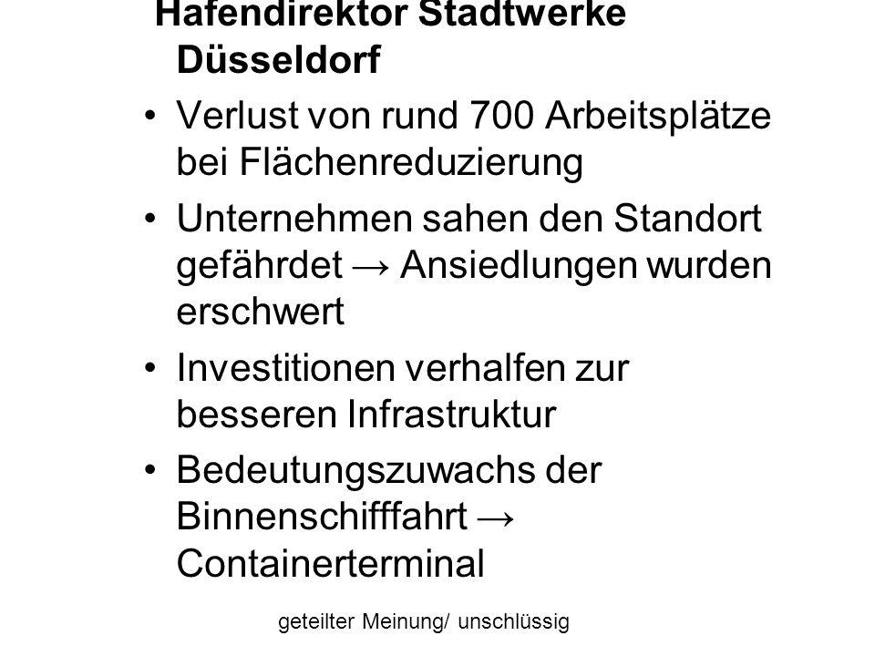 Hafendirektor Stadtwerke Düsseldorf