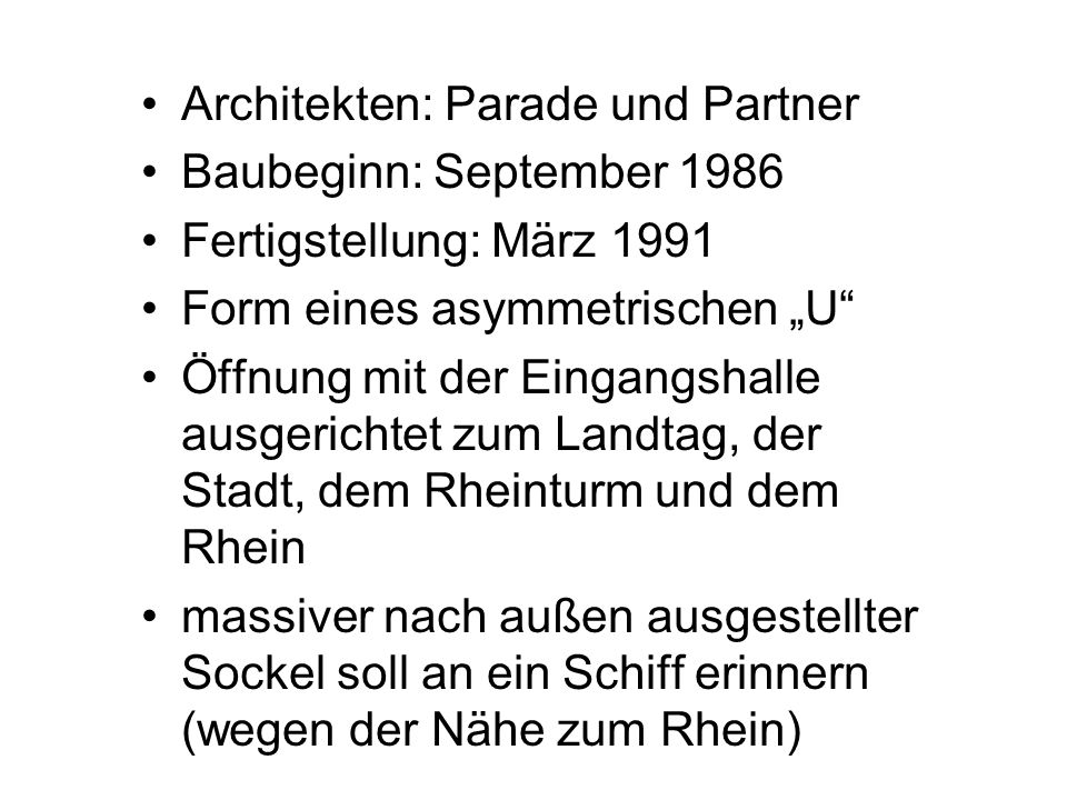 Architekten: Parade und Partner