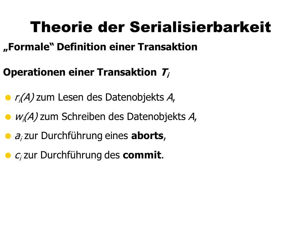 Theorie der Serialisierbarkeit
