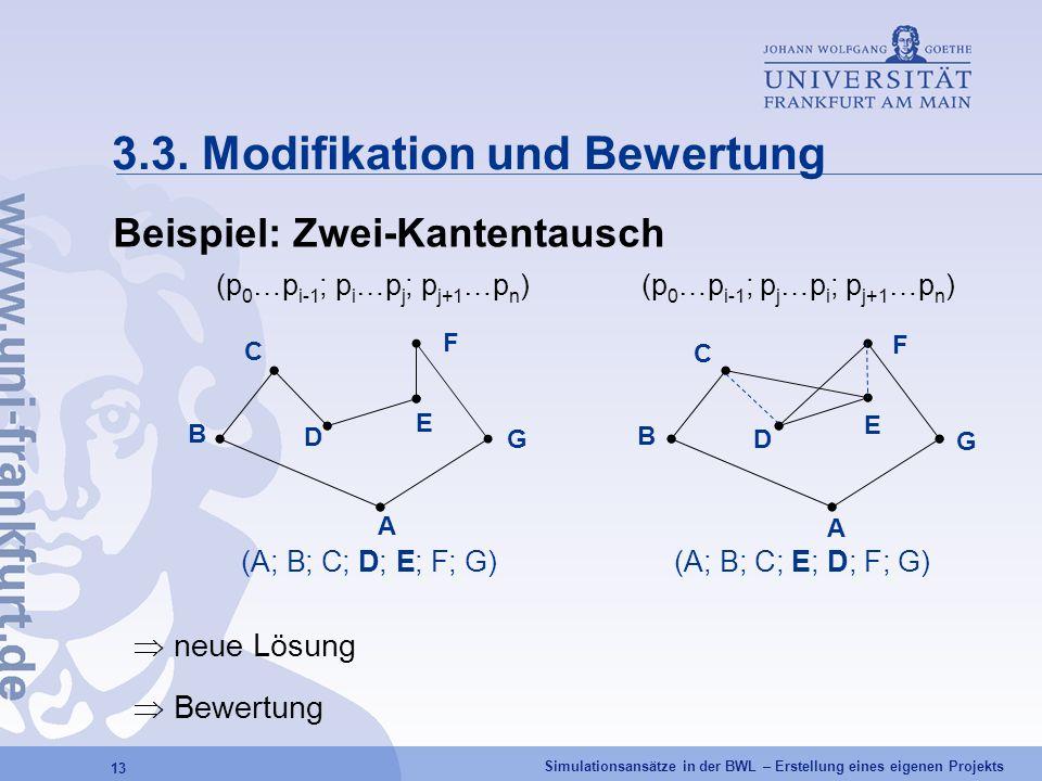 3.3. Modifikation und Bewertung