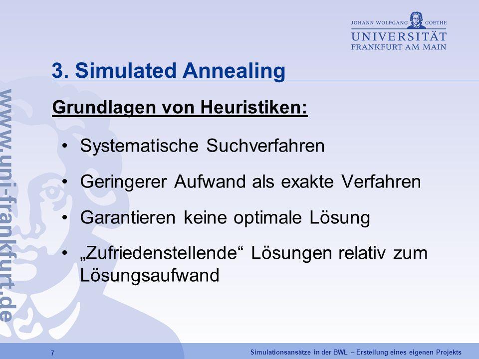3. Simulated Annealing Grundlagen von Heuristiken: