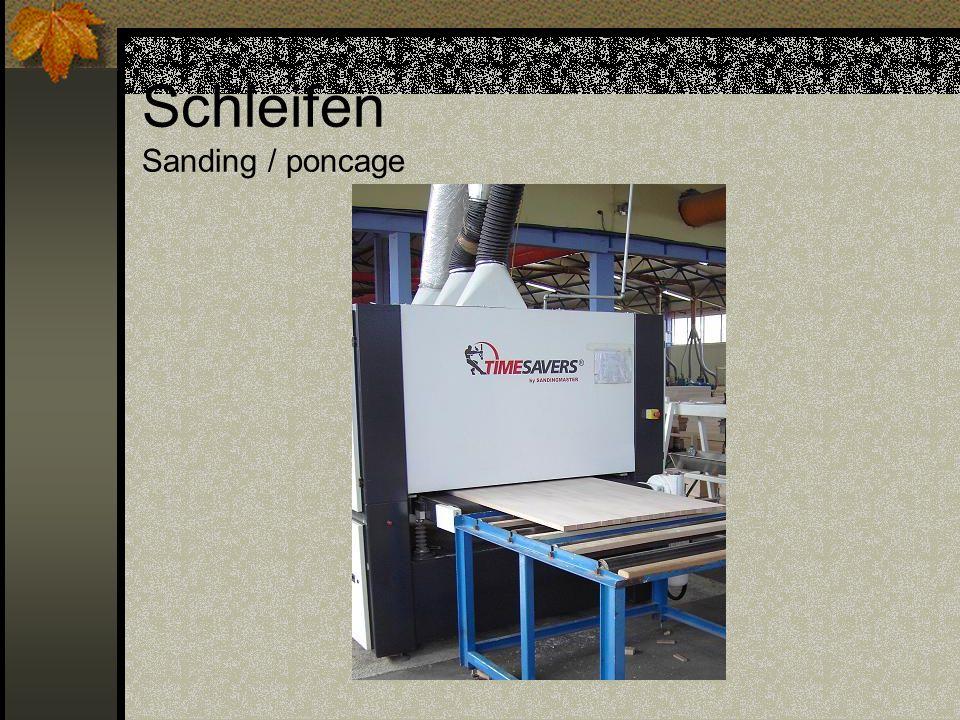 Schleifen Sanding / poncage