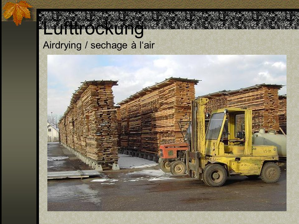 Lufttrockung Airdrying / sechage à l'air