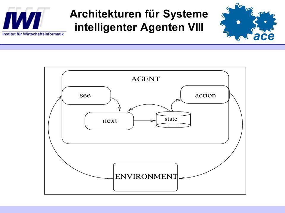 Architekturen für Systeme intelligenter Agenten VIII