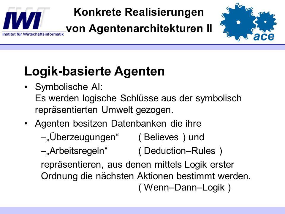 Konkrete Realisierungen von Agentenarchitekturen II