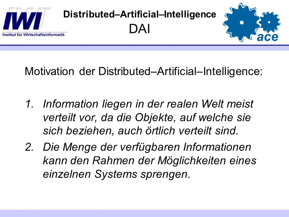 Distributed–Artificial–Intelligence DAI
