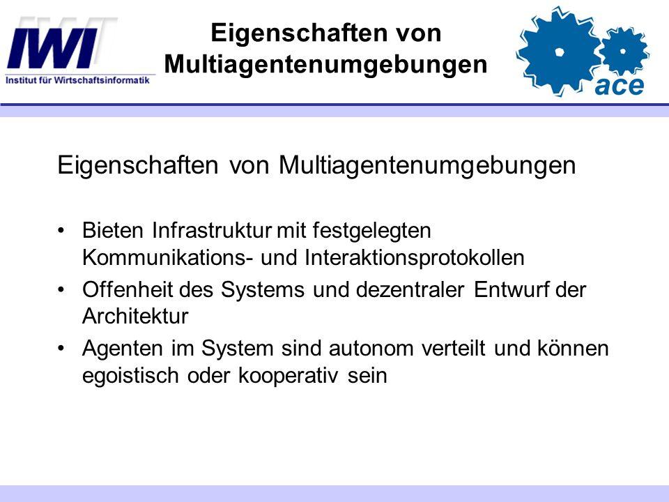 Eigenschaften von Multiagentenumgebungen