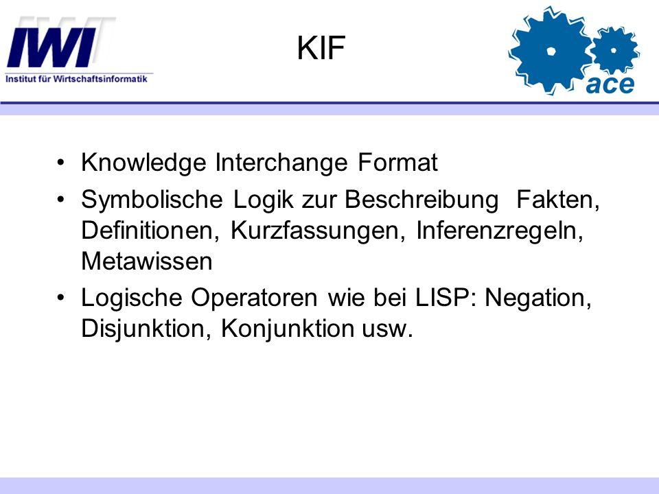 KIF Knowledge Interchange Format
