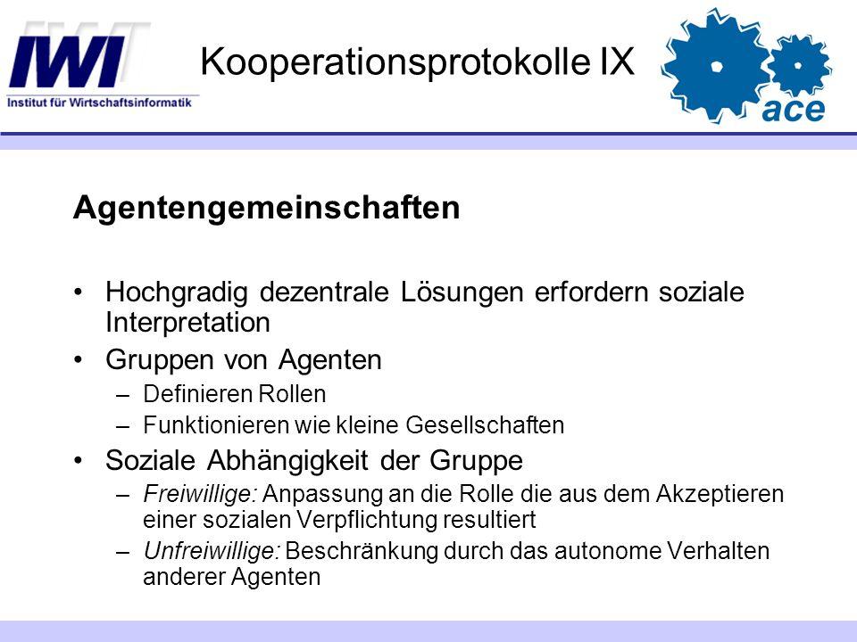 Kooperationsprotokolle IX