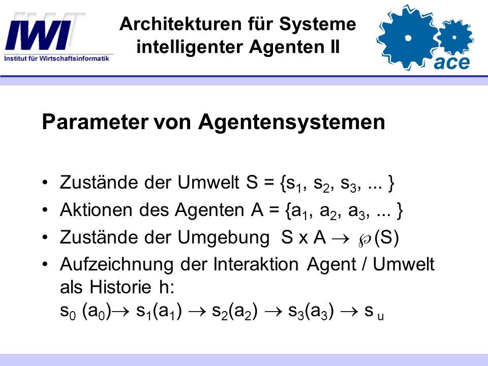Architekturen für Systeme intelligenter Agenten II