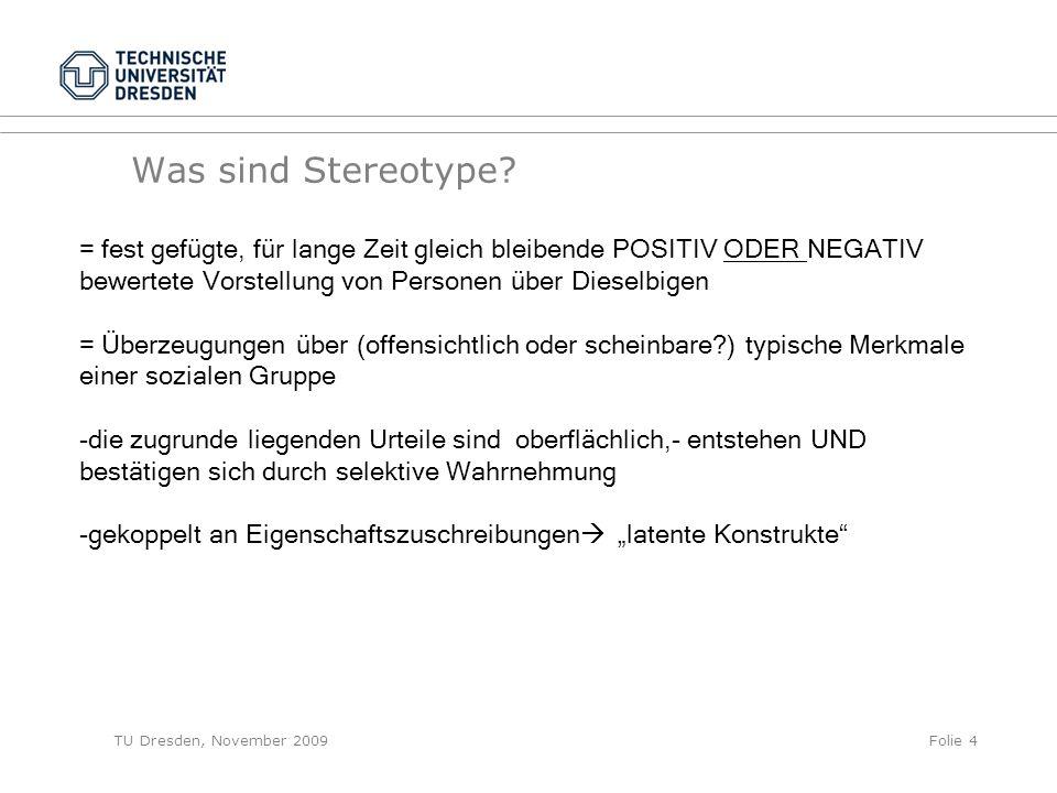 Was sind Stereotype.