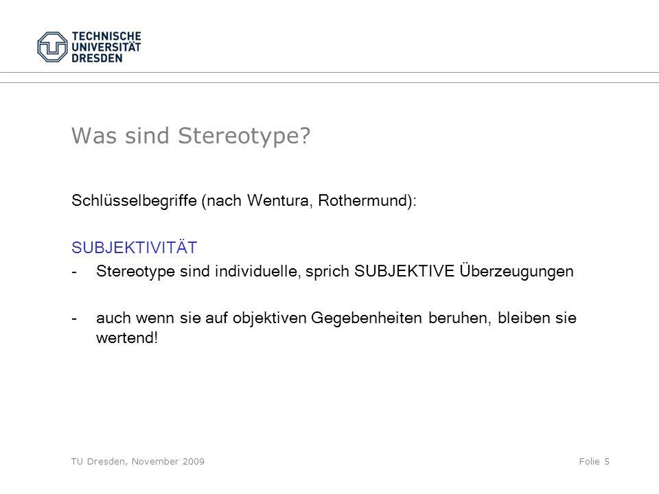 Was sind Stereotype Schlüsselbegriffe (nach Wentura, Rothermund):