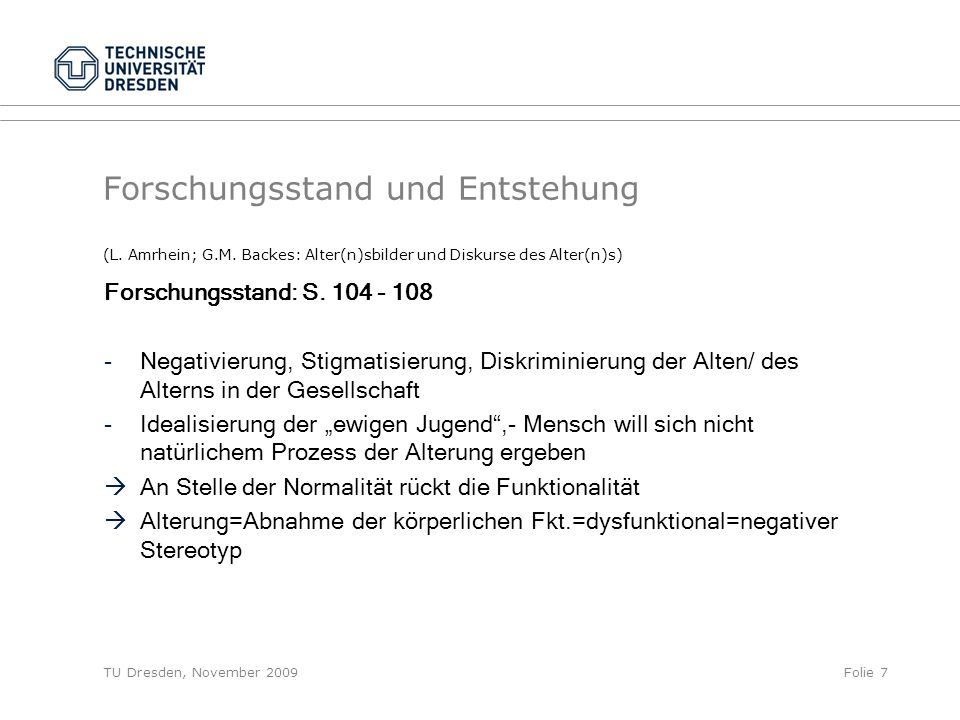 Forschungsstand und Entstehung (L. Amrhein; G. M