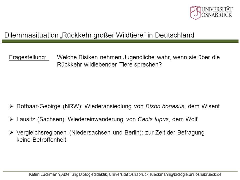 """Dilemmasituation """"Rückkehr großer Wildtiere in Deutschland"""