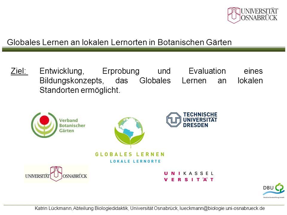 Globales Lernen an lokalen Lernorten in Botanischen Gärten