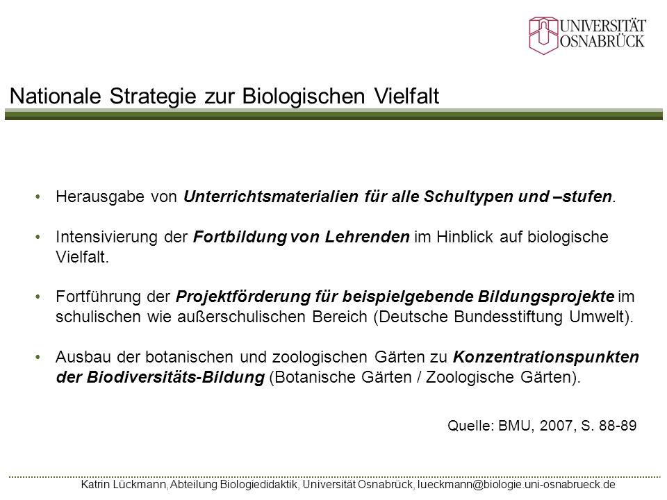 Nationale Strategie zur Biologischen Vielfalt