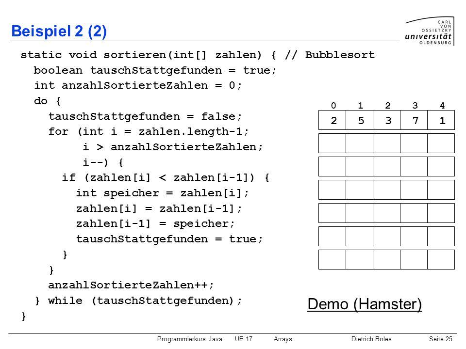 Beispiel 2 (2) Demo (Hamster)