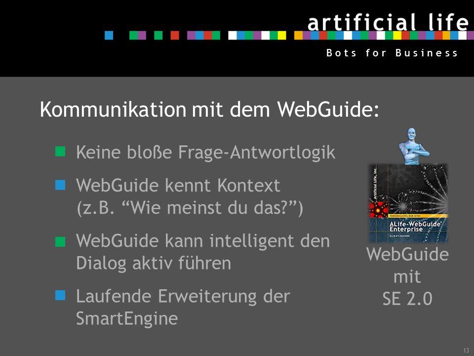 Kommunikation mit dem WebGuide: