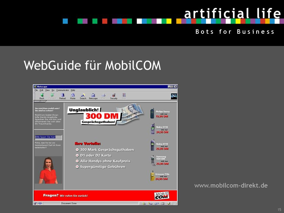 WebGuide für MobilCOM www.mobilcom-direkt.de