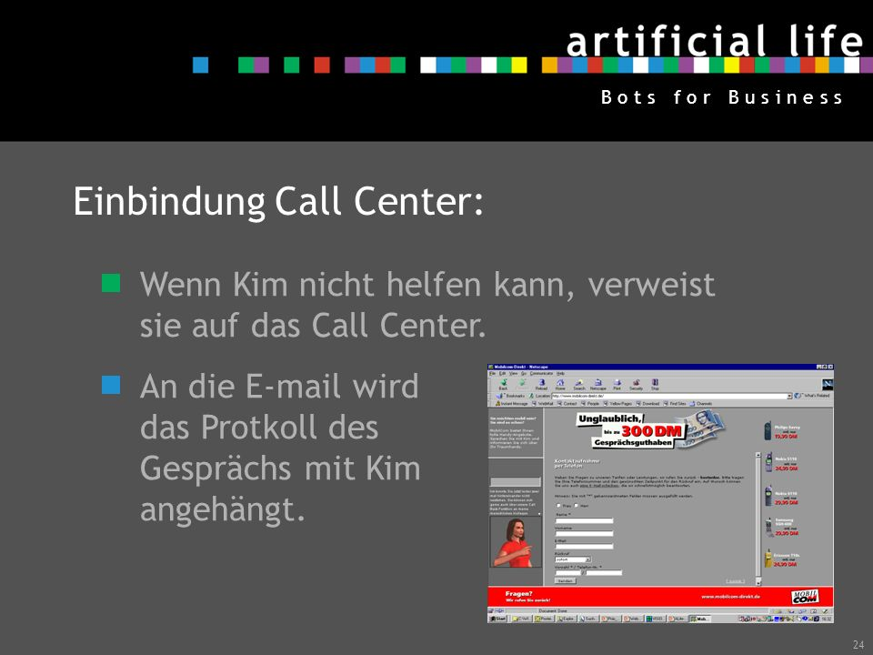 Einbindung Call Center: