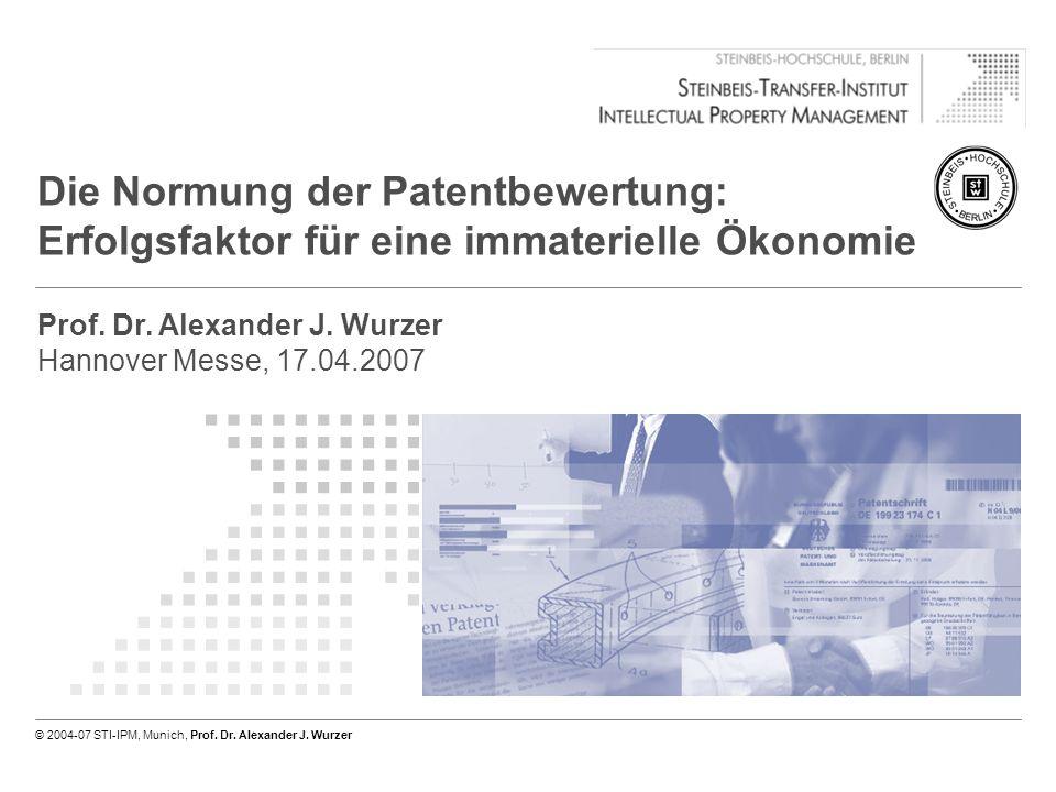© 2004-07 STI-IPM, Munich, Prof. Dr. Alexander J. Wurzer